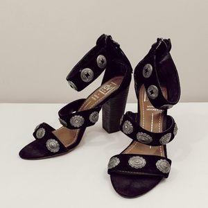 dolce vita x vanessa mooney concho chunk heels
